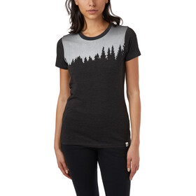 tentree Juniper Maglietta a maniche corte Donna, meteorite black heather